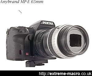 anybrand Mp-e 65mm extreme macro lens for Pentax
