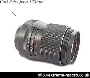 Carl Zeiss Jena 135mm f/3.5 tube lens for extreme macro