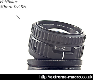 Nikon El-Nikkor 50mm f/2.8N enlarger lens