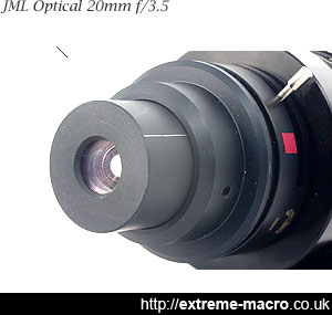 The JML Optical 21mm f/3.5 used for extreme macro