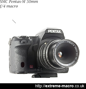SMC Pentax-M 50mm f/4 Macro Lens