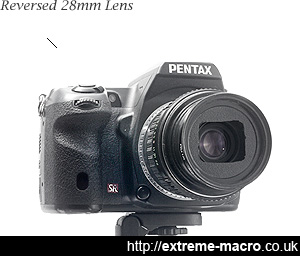 Pentax K series lens reversed